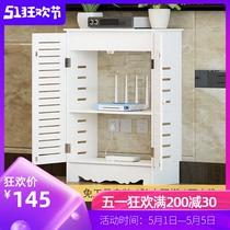 路由器箱遮擋立式弱電柜收納箱多媒體集線箱遮擋盒裝飾地暖遮擋箱