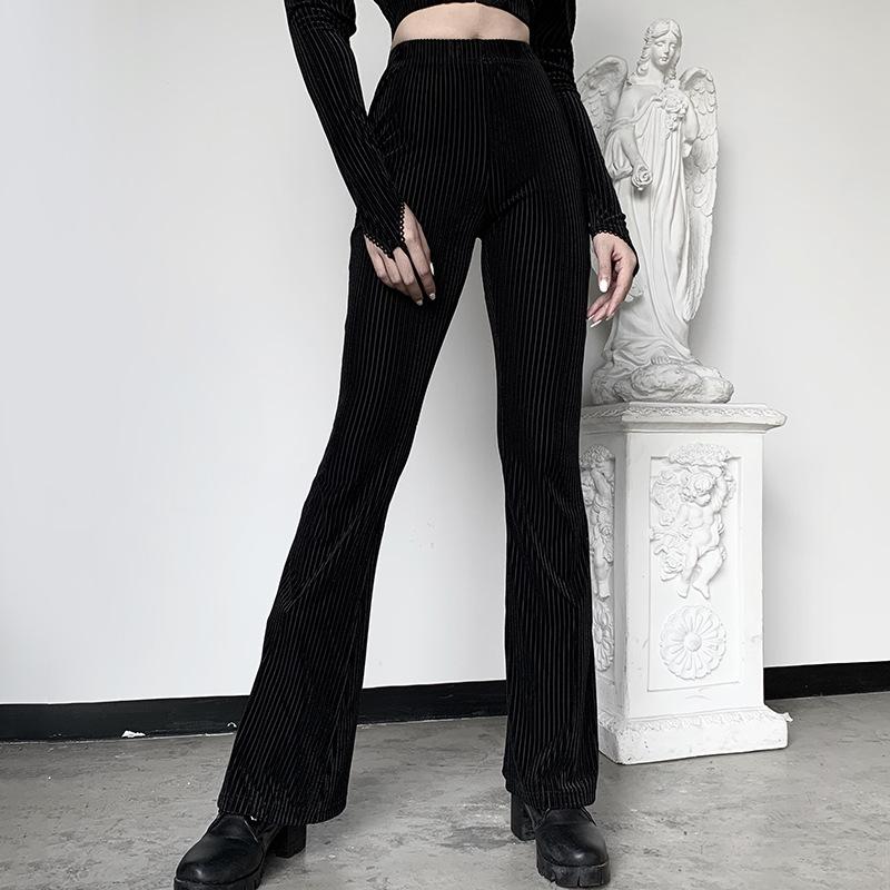 Flare pants women's casual casual wide leg pants坑条阔腿裤