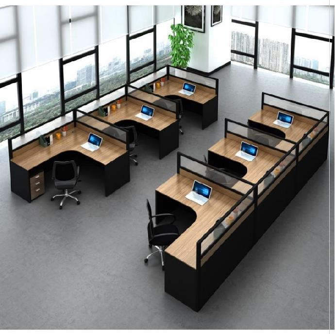 单人时尚商业办公家具板桌工作位新中式屏风公司创意员工隔断式