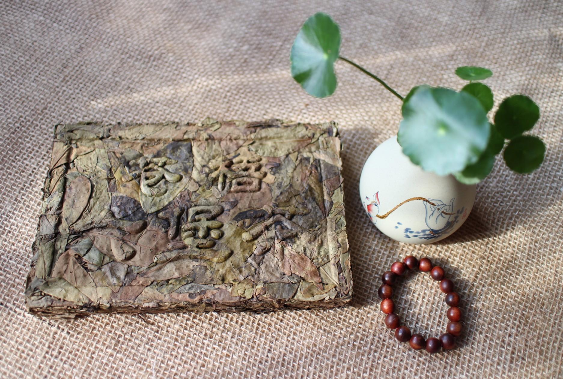 【老善家】霜降老茶婆茶饼2016年六堡茶茶砖黑茶生茶塘平村500克