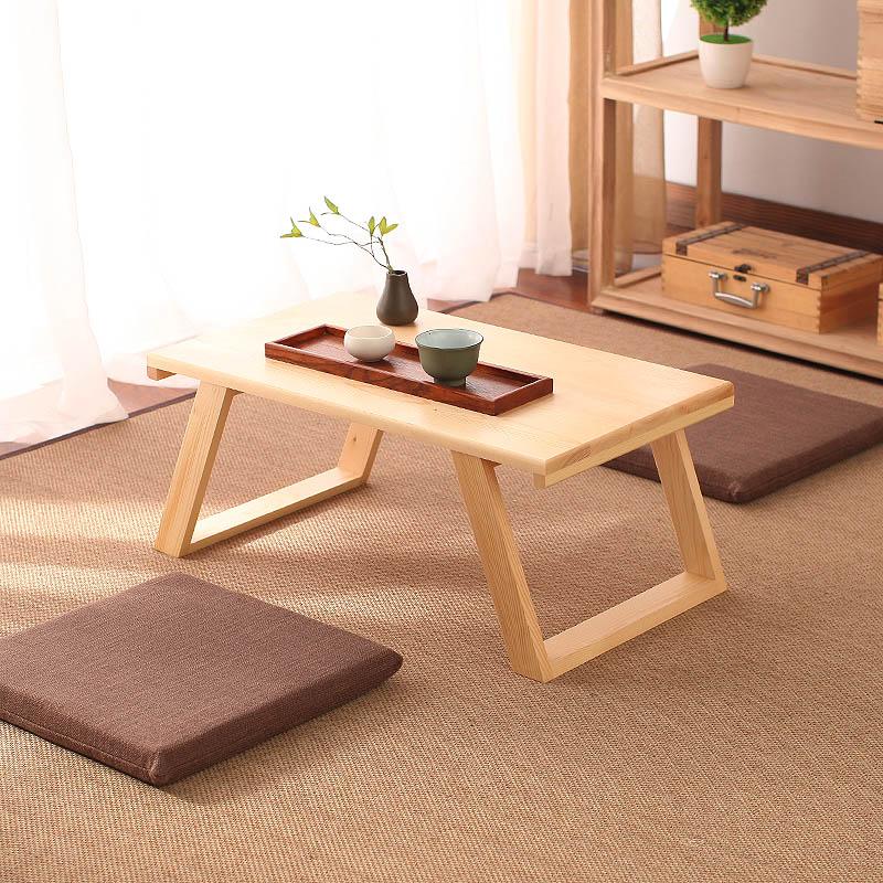 飘窗桌子小茶几日式实木阳台现代简约迷你地台炕桌茶桌榻榻米矮桌