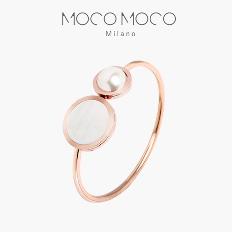 Moco mothers shell rose gold bracelet feminine pearl jewelry simple light luxury jewelry Qixi birthday gift trend