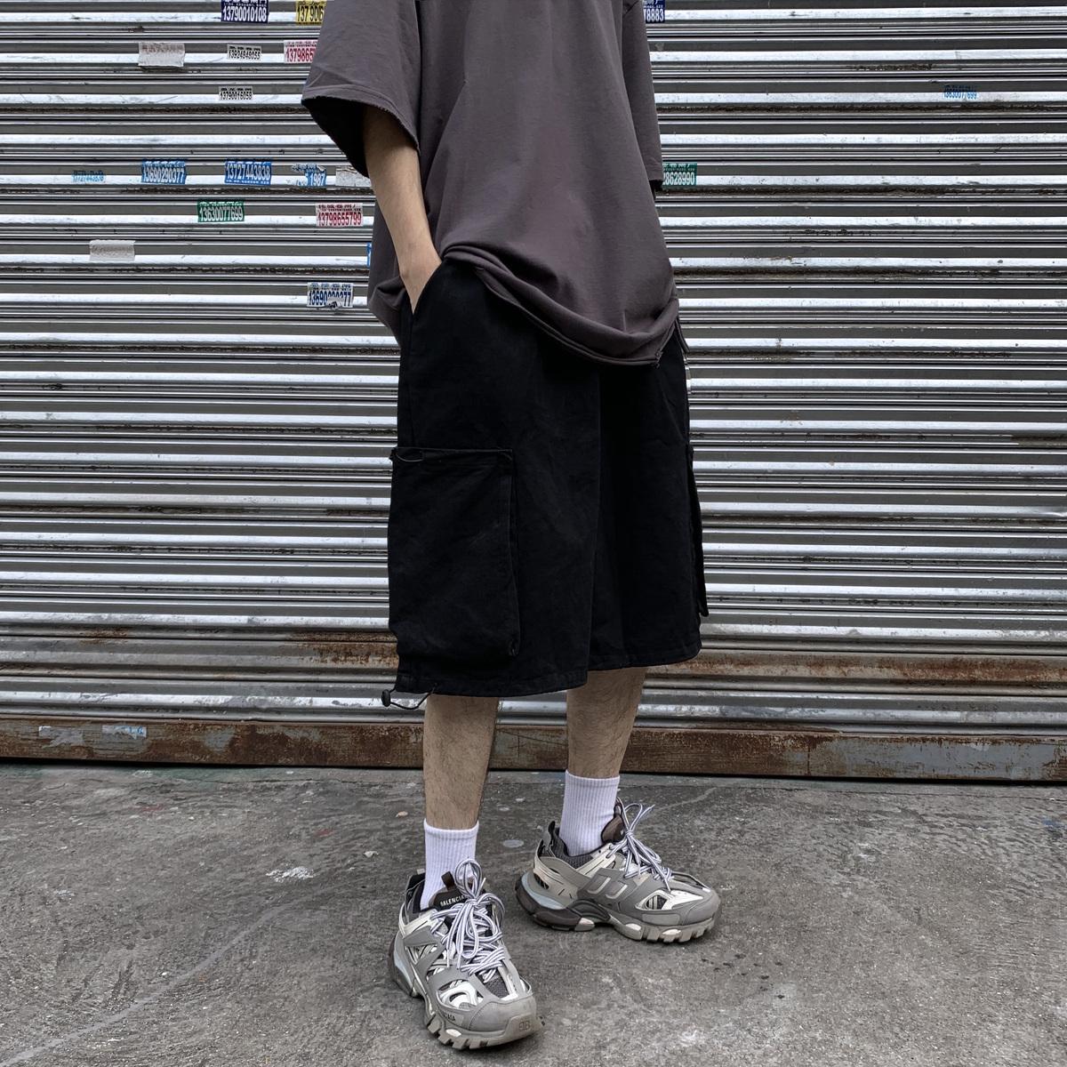 阿美咔叽old schoo慵懒宽松男短裤限时2件3折