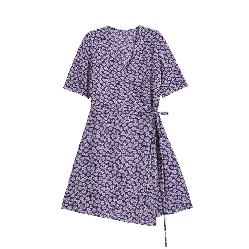 (用10元券)designer plus法式风情复古连衣裙