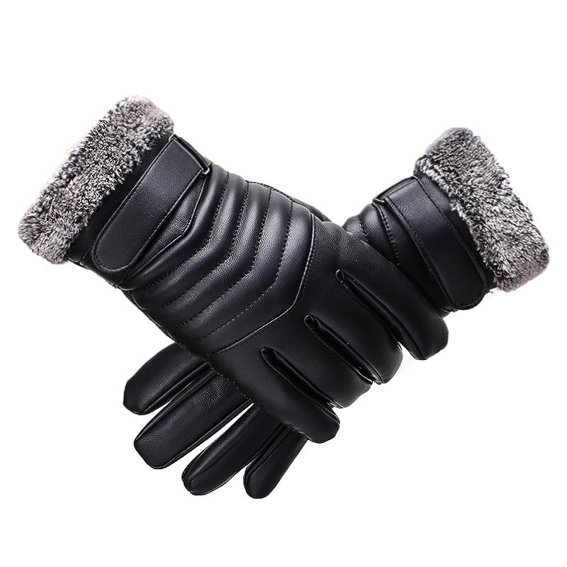 皮手套男冬天骑行摩托车冬季保暖防水加绒加厚骑车防寒男士棉手套