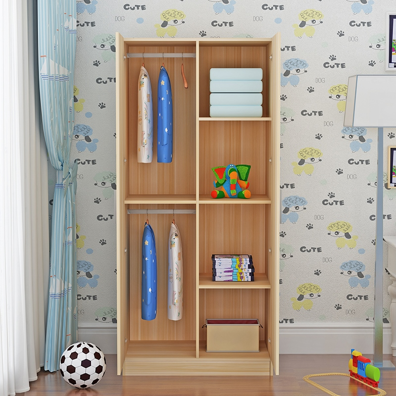 2019新款2门木质儿童简约成人衣柜满159.90元可用1元优惠券