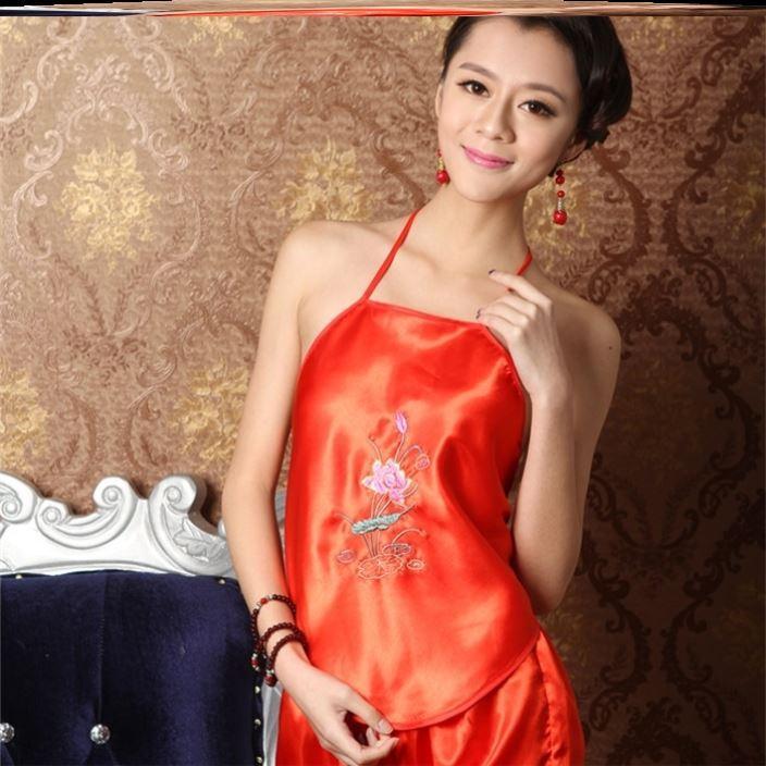 红色新娘装肚兜女古风少女宫廷成人性感汉元素成年婚纱复古风古典