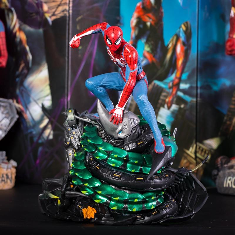 熱賣復聯PS4蜘蛛俠手辦雕像游戲版漫畫手辦模型玩具禮物人偶公仔