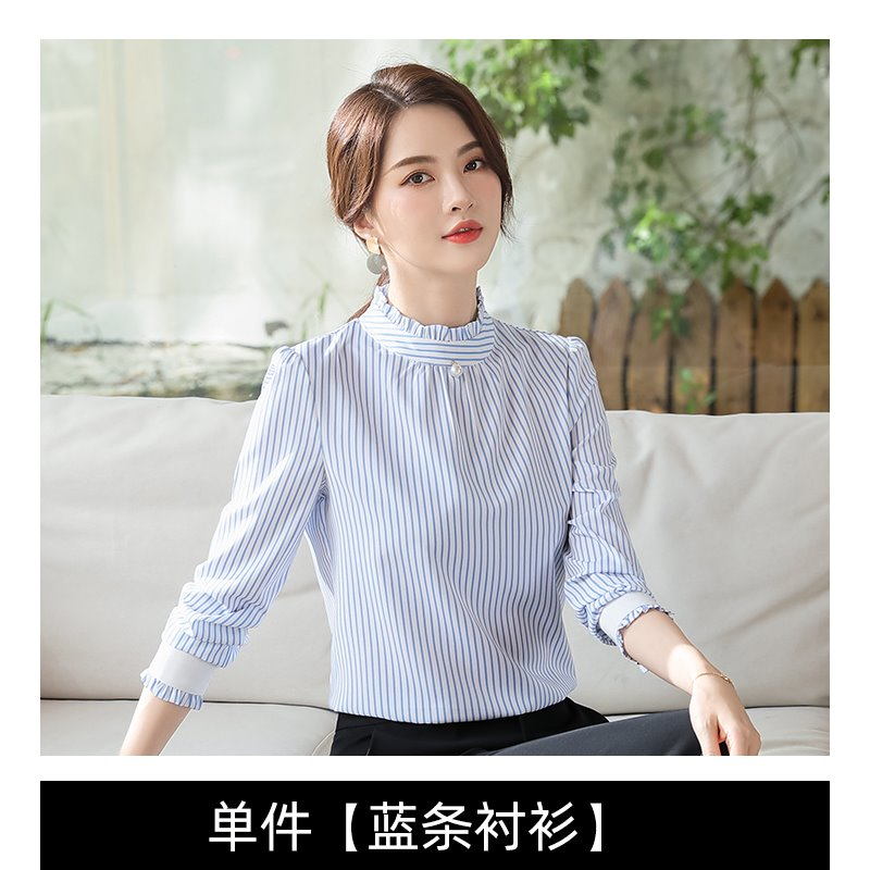 New professional Polka Dot woven shirt Bohemian style casual Korean work clothes long sleeve autumn winter Pullover