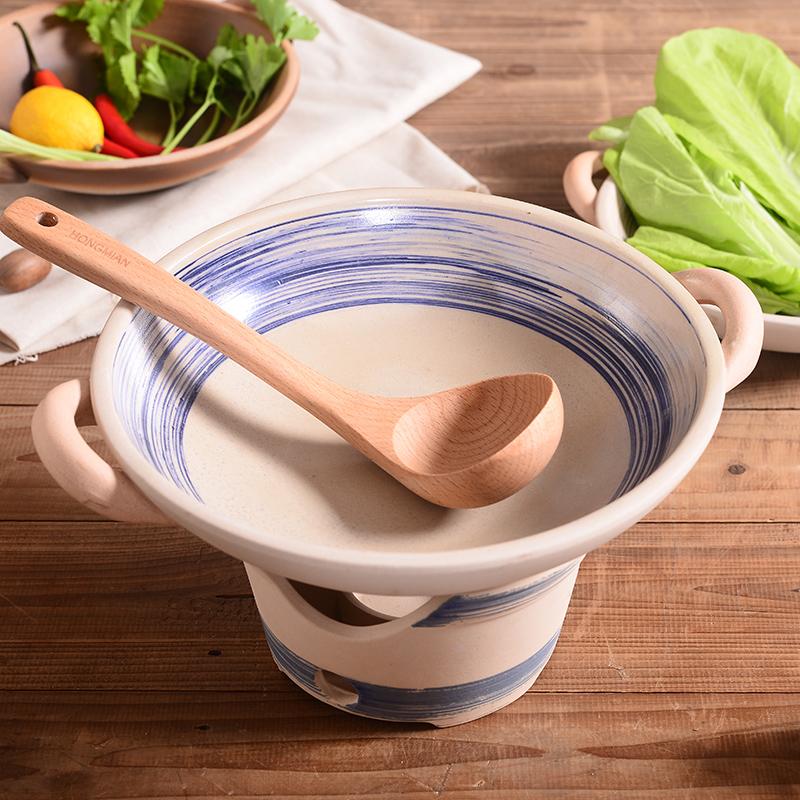 日本式陶磁器固形アルコール炉鍋鍋鍋戸外の家庭用乾鍋土鍋キャンドルアルコール鍋