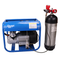 Duge High Pressure gas pump 30mpa water-cooled inflatable pump 40MPA two-cylinder electric ventilator automatic shutdown