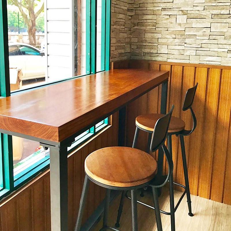 Дерево бар стол домой опираться на стена железо ходули столы и стулья молочный чай магазин небольшой бар магазин балкон полоса стол узкий стол