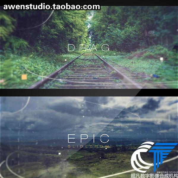 史诗电影开幕三维视差企业宣传片开场片头Epic级别大气AE模板