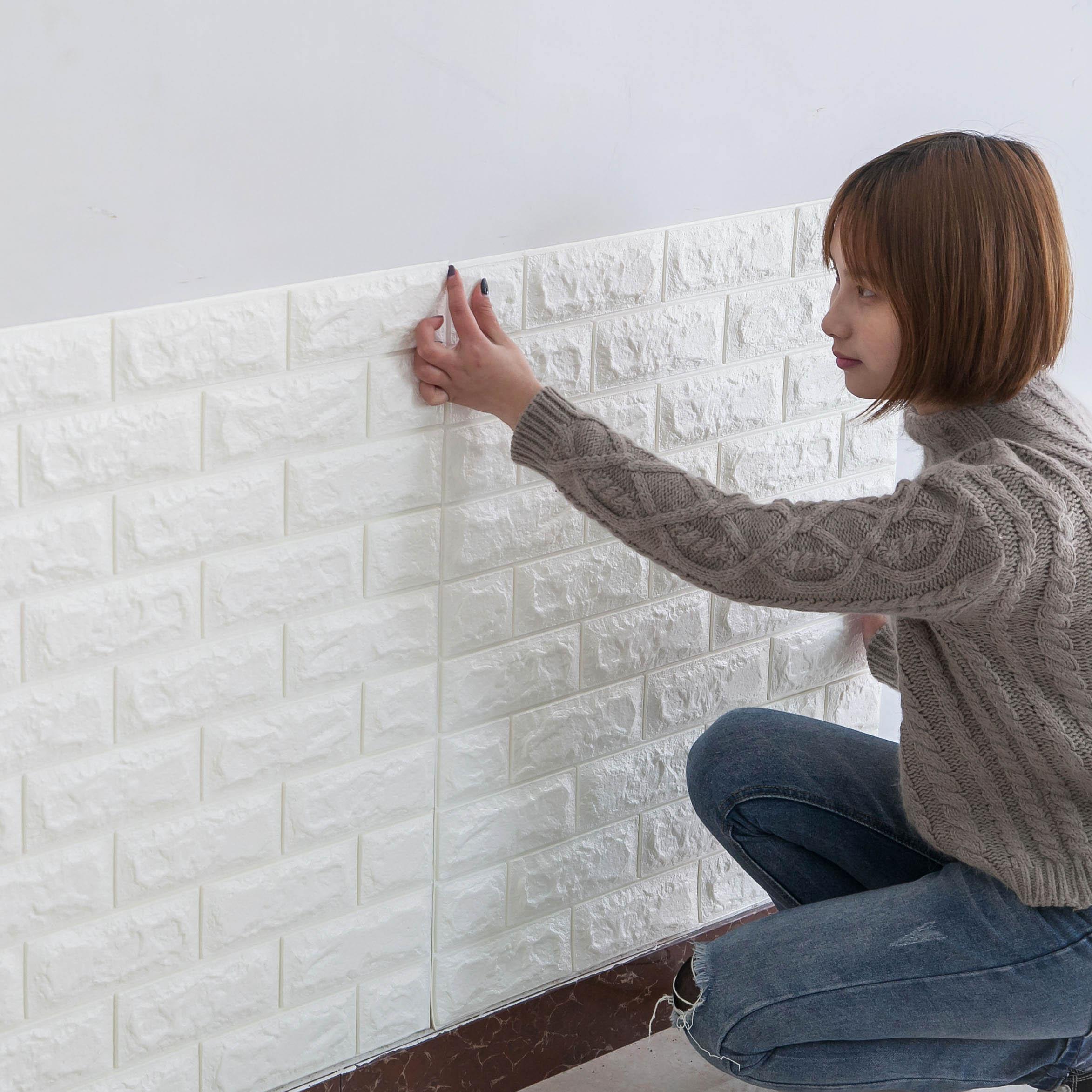 防水3d立体墙贴卧室温馨客厅墙纸背景墙自粘壁纸宿舍宾馆简单贴纸