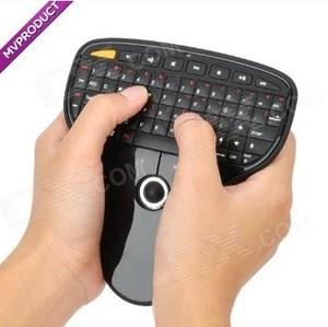 佰渡多功能无线2.4G手握式轨迹球鼠标 空中飞鼠2.4G键盘鼠标一体A