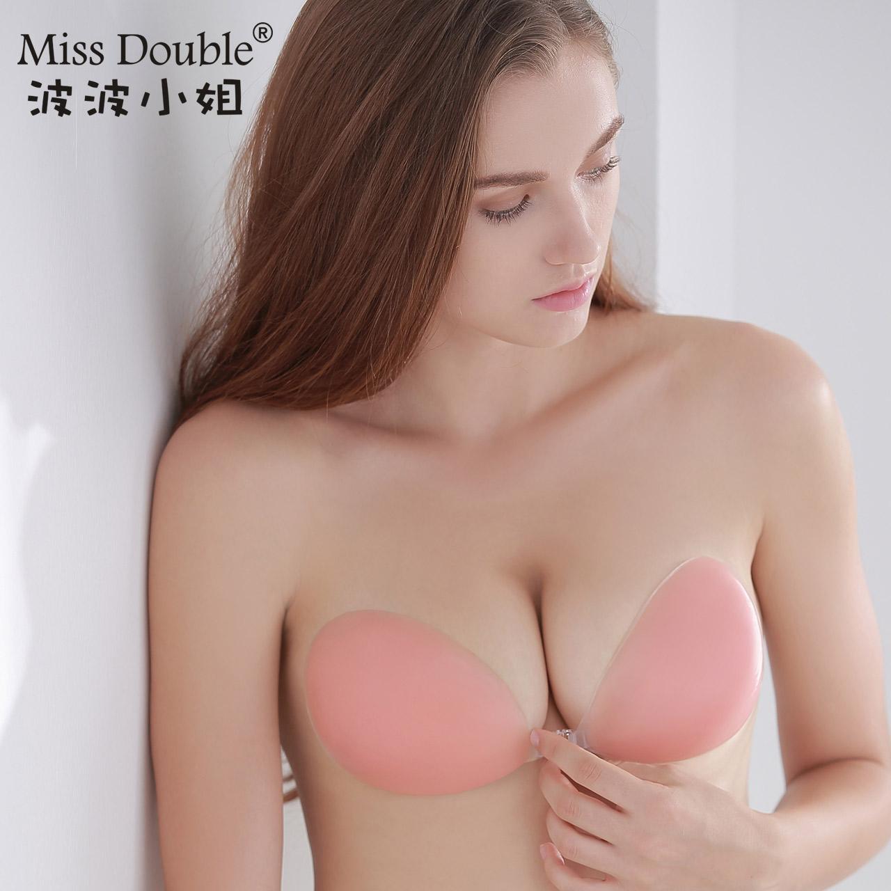 波波小姐硅胶隐形文胸贴加厚聚拢小胸婚纱提胸乳贴无肩带内衣bra