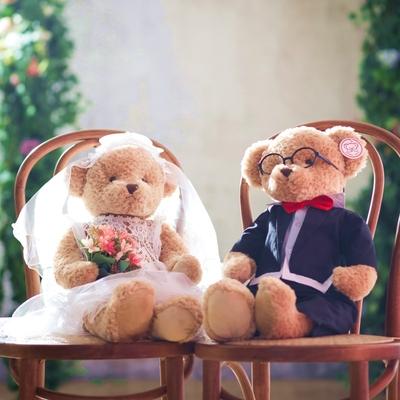 压床娃娃一对结婚新婚礼物高档新款大号毛绒玩具公仔情侣泰迪熊