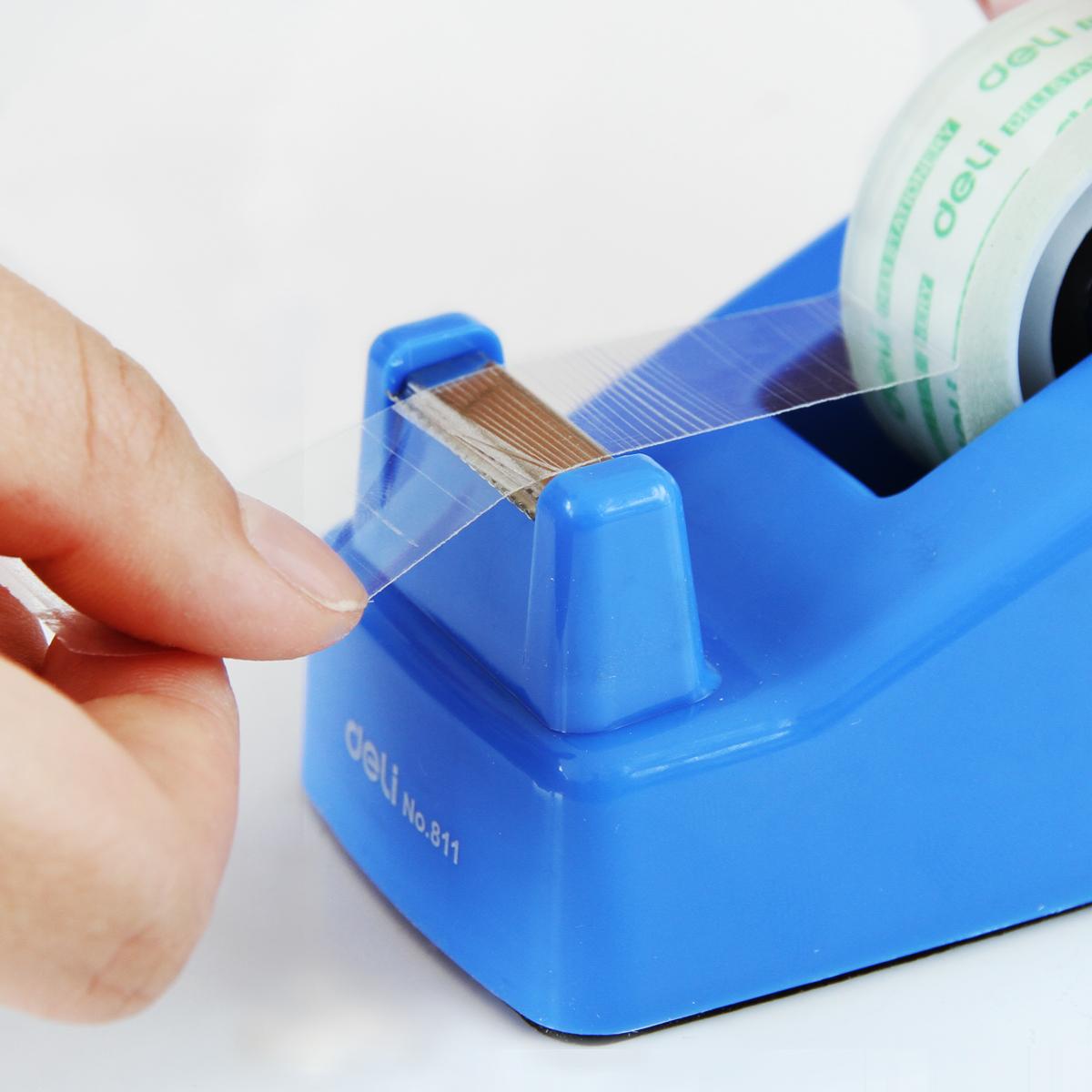 得力办公文具胶纸座手工玻璃胶纸粘胶透明小胶带切割座小胶带切断,可领取2元天猫优惠券