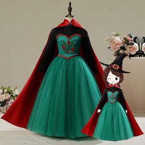冰雪奇缘艾莎公主裙万圣节儿童服装生日女童爱莎安娜连衣裙子秋冬