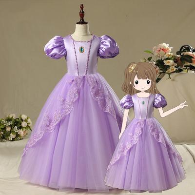 圣诞节苏菲亚公主裙女童索菲亚童装乐佩连衣裙儿童索菲亚公主裙子