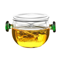 Kamjove Gold cooker heat-resistant glass tea maker Double ear cup black tea tea set pu  er tea teapot filter tea making device