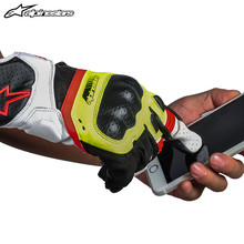 A Star Alpinestars Motorcycle Riding Gloves Anti-fall Leisure Sheepskin Four Seasons Touchable Screen Short Gloves SP-5