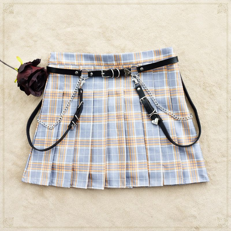 Simple and elegant Lolita Lolita girl Punk Gothic belt decorative accessories leather strap JK waist chain