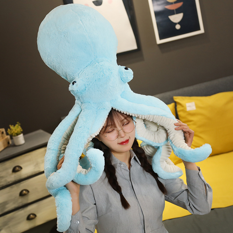 Soft cute Octopus pillow doll plush toy Octopus doll doll doll cute girl sleeping in bed large