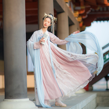 Hanshang Hualian Jingong Traditional Hanshu Women's High-waist Embroidery, Chest-length Skirt, 6-meter Daily Slender Spring and Summer Dresses