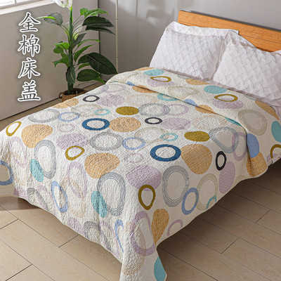 Cotton bed cover twill quilted quilt autumn and winter quilted padded quilt double cotton linen tatami mattress bed