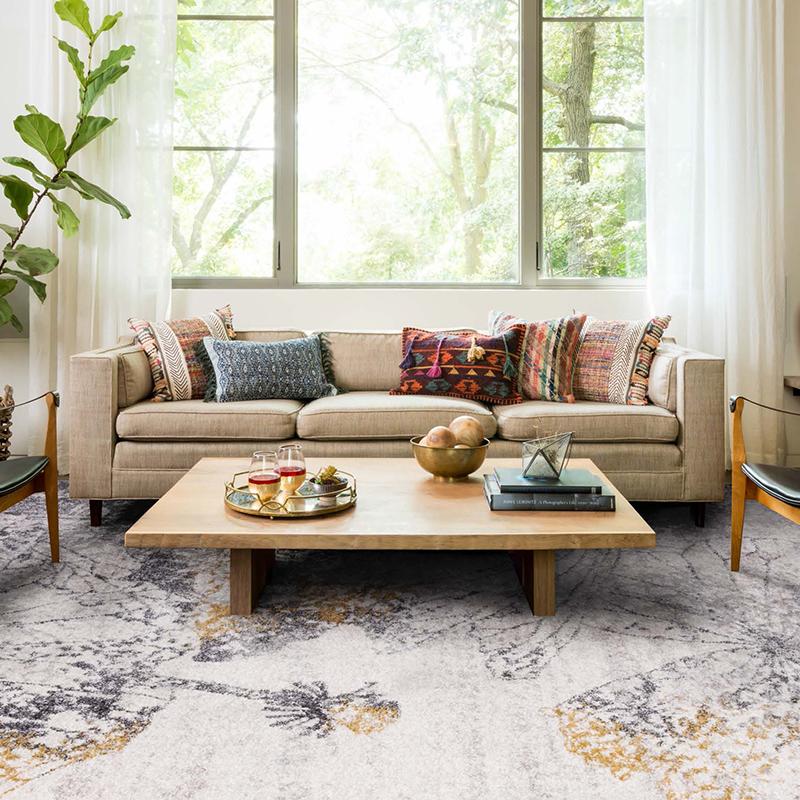 Carpet modern simple Nordic personality style IKEA loft geometric floor mat family living room sofa