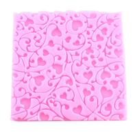 Heart Flower Silicone Lace Fondant Mould Cake Decorating Cho