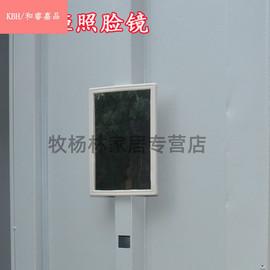 铁皮柜配件钢制办公家具更衣柜储物柜橱柜小镜子方玻璃镜照脸镜图片