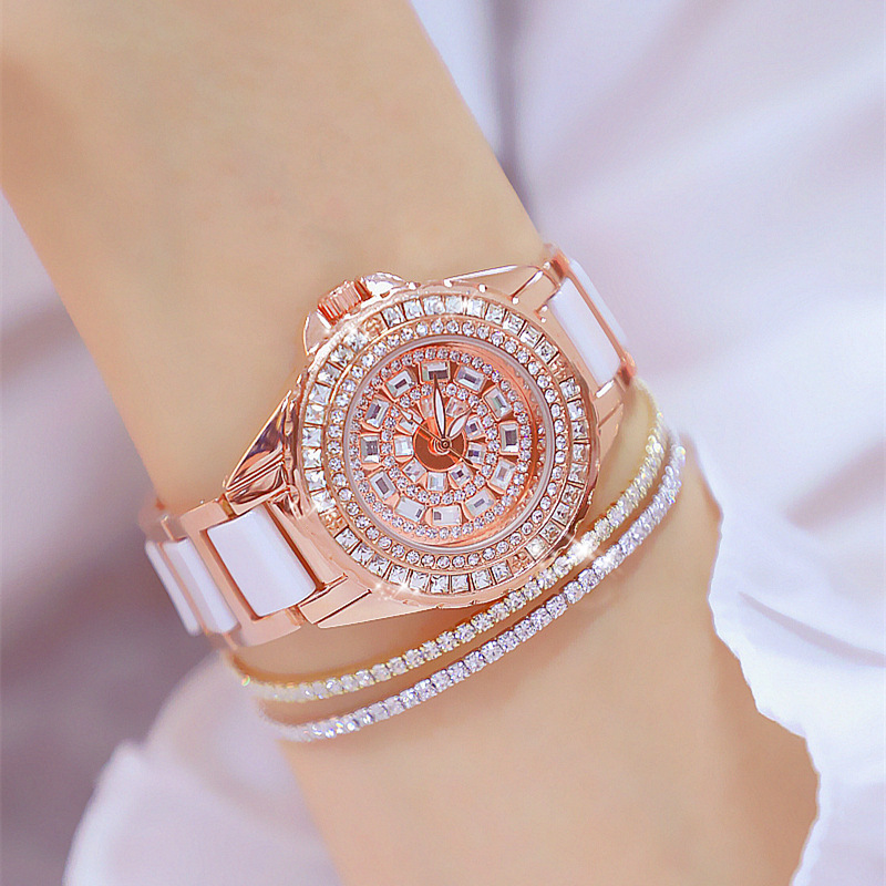 2019 new white ceramic watch female star sky ins style authentic BS full bore fashion trend personalized waterproof watch