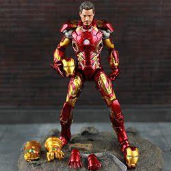 复仇者联盟英雄装甲钢铁侠MK手办模型多关节可动人偶摆件玩具