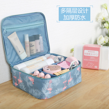 Ins net red cosmetic bag small portable Korean simple large capacity Cosmetic Bag Girl heart wash gargle collection box