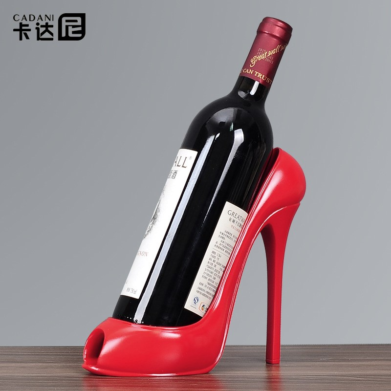 Simple European style personalized high-heeled shoes red wine rack wine cabinet decoration home living room decoration creative decoration TV cabinet