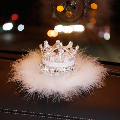 汽车香水座创意镶钻女士车上香氛车饰女神款车载车内装饰品摆件