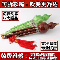 防摔耐用树脂胶木葫芦丝初学者c调降b调小学生儿童大人乐器