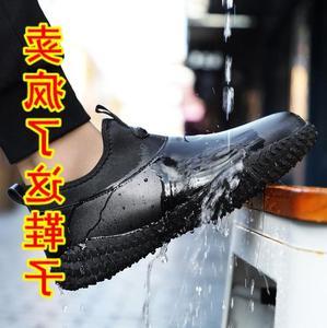 。特大码45春季雨鞋男士46钓鱼鞋子加大号47防滑防水洗车厨房男鞋