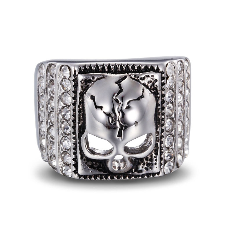Fashion jewelry man ring titanium steel personality rock punk ring