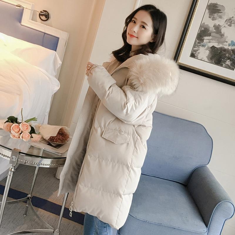 羽绒棉服长款2019冬季新款韩版时尚过膝棉衣女棉袄大口袋外套21