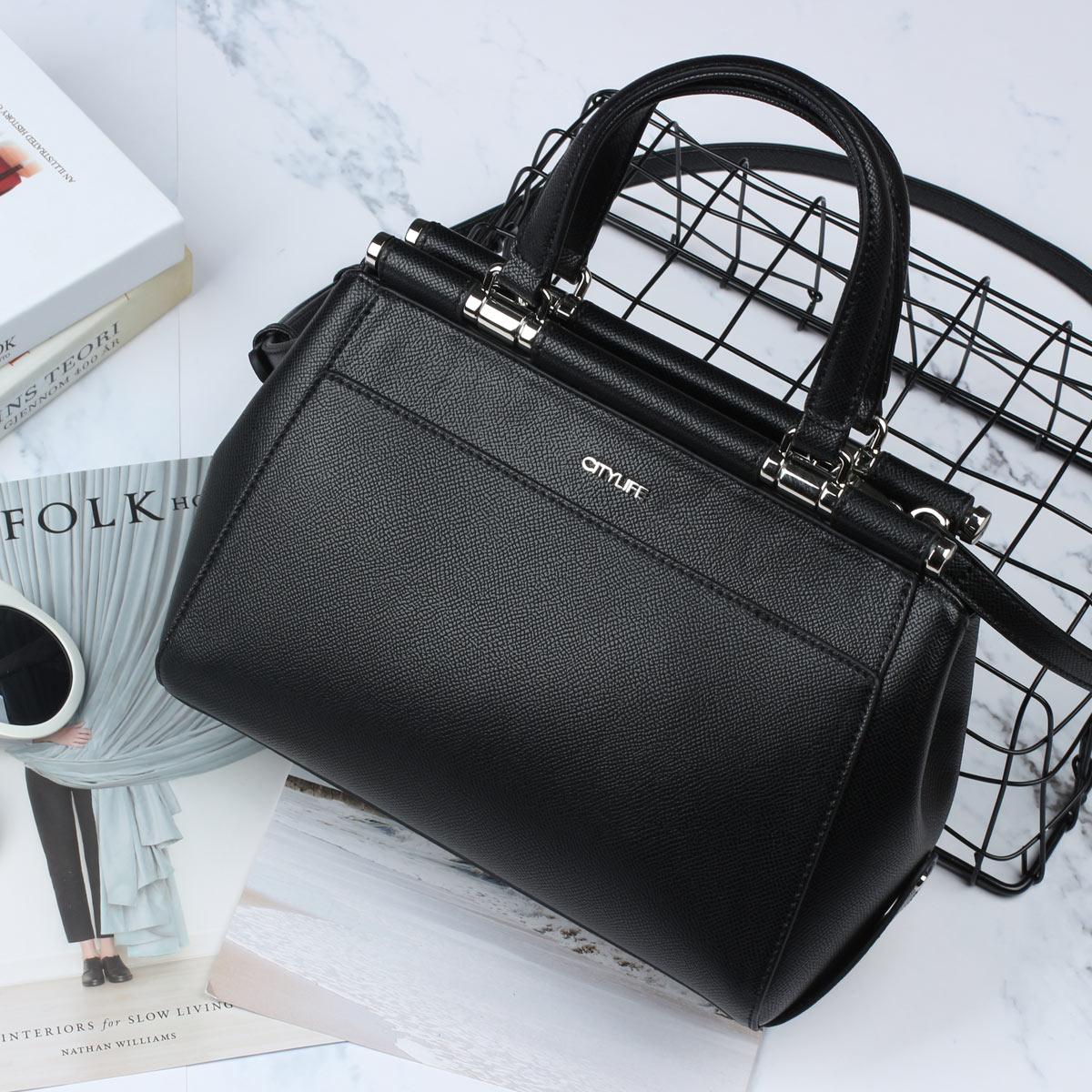 城市生活CITYLIFE包包2018新款�W美��s�t生包通勤女包手提包