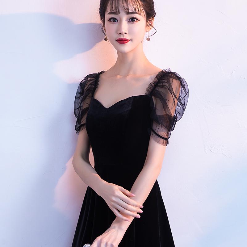 晚礼服女2018夏季新款洋装名媛宴会聚会生日派对修身小礼服裙短款