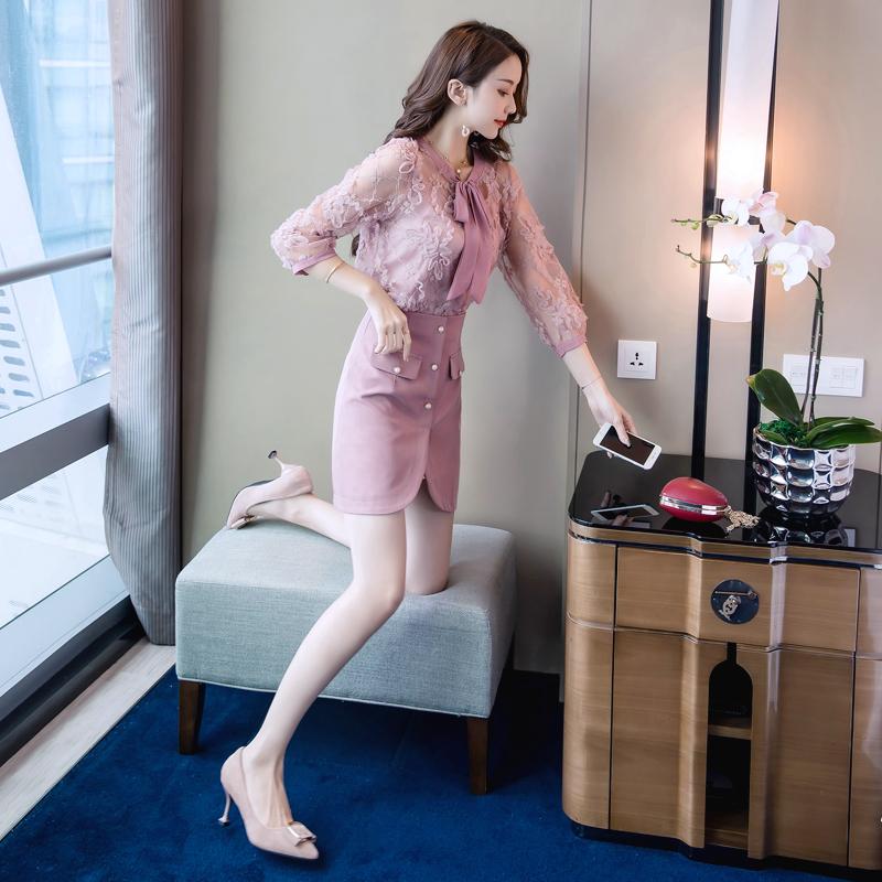 12月02日最新优惠2019新款两件套初秋裙装法式连衣裙