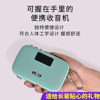 小霸王D98蓝牙收音机老人新款小音响便携式播放器迷你小型无线蓝牙音箱