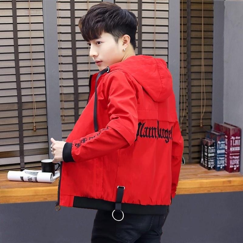 外套男春夏季新款男士夹克青少年韩版帅气休闲男装学生个性防晒服