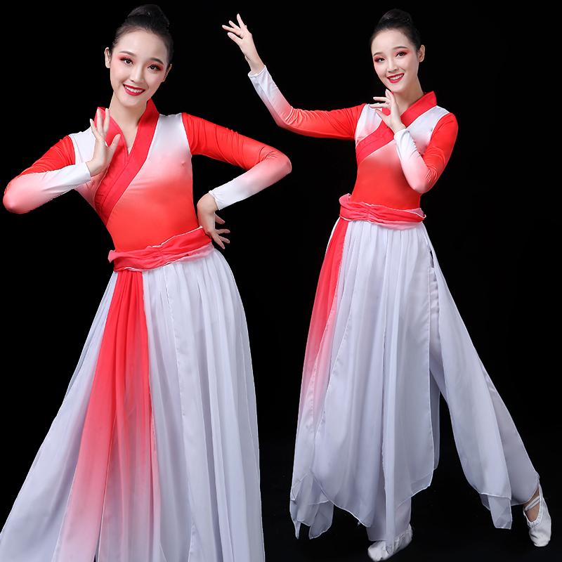 古典舞演出女新款飘逸中国风九张机仙女舞蹈服装芒种古风纱衣套装