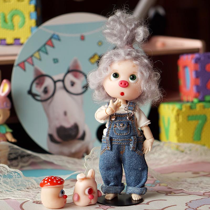 suki手工娃 ob11素体粘土小猪 非 美结猪娃娃 美洁猪 小猪娃娃