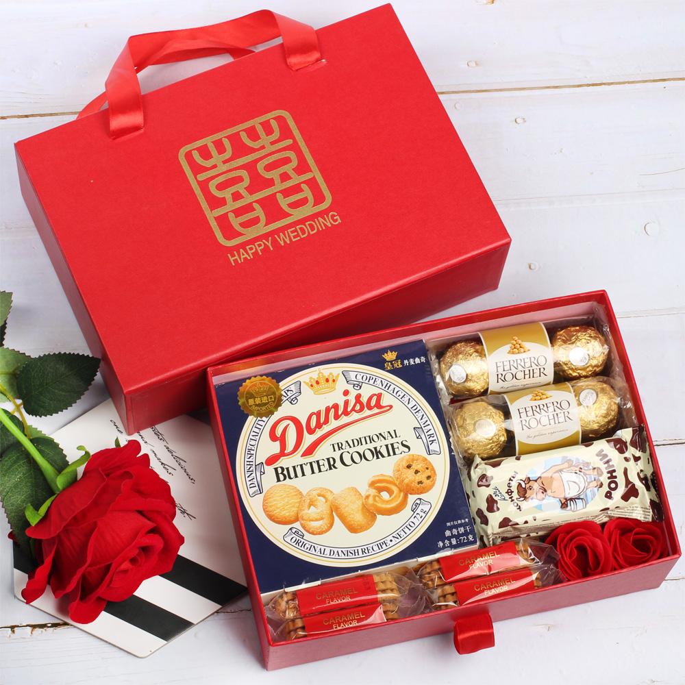 喜糖礼盒成品含新郎新娘婚礼礼包满27.25元可用5.45元优惠券